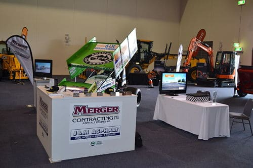 J&M Asphalt and Merger Contracting's Booth